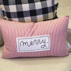 Rae Dunn MERRY Pillow